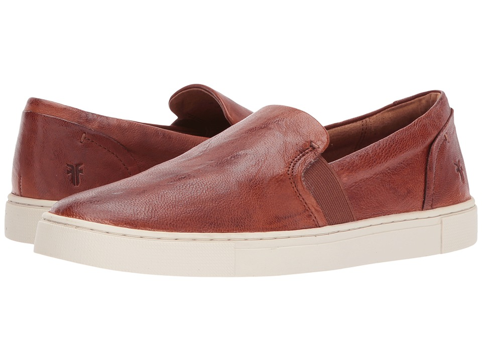 Frye - Ivy Slip (Cognac Antique Soft Vintage) Womens Slip on  Shoes