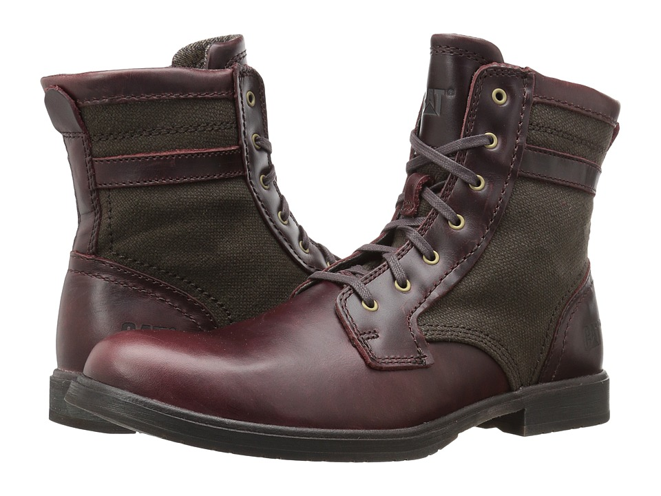 Caterpillar Abe Canvas II (Oxblood) Men