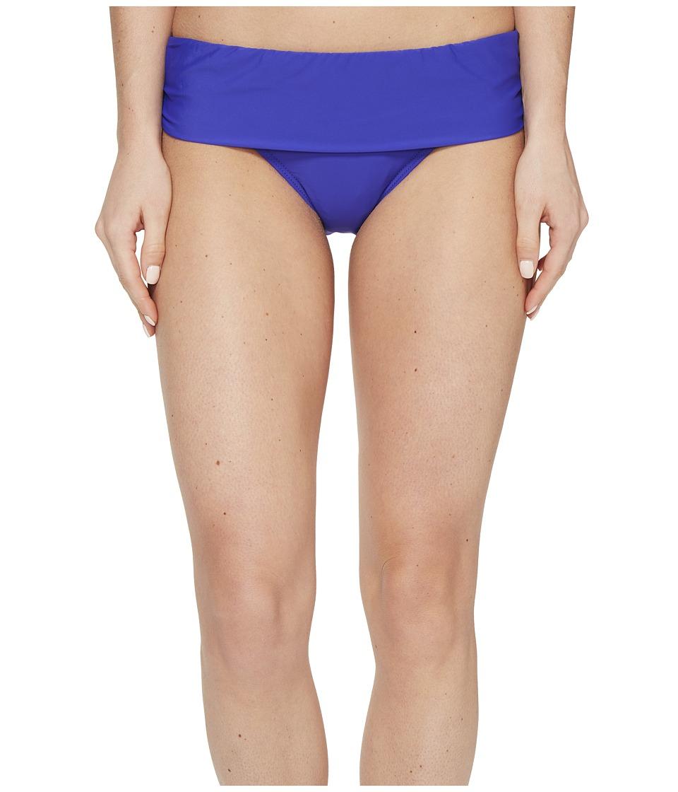 Athena Cabana Solids Lani Banded Bikini Bottom (Indigo) Women