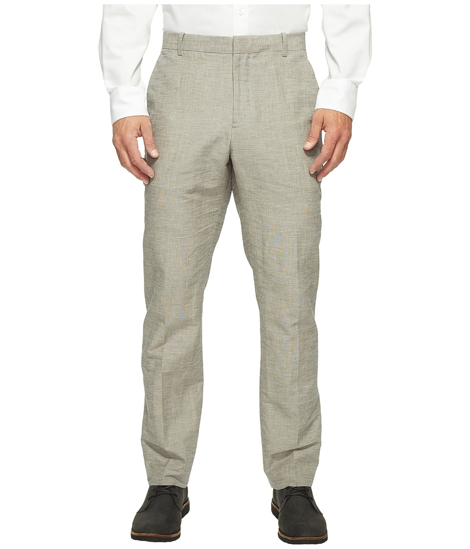 Men's Vintage Style Pants, Trousers, Jeans, Overalls Perry Ellis - Slim Fit Linen Cotton End on End Dress Pants Alloy Mens Casual Pants $59.99 AT vintagedancer.com
