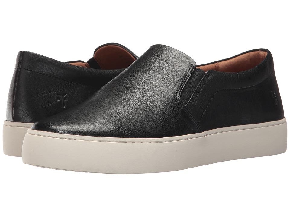 Frye Lena Slip-On (Black Tumbled Buffalo) Slip-On Shoes