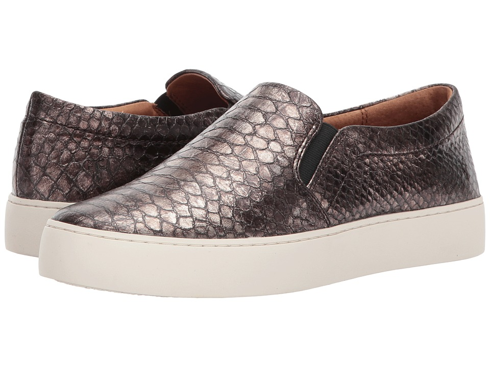 Frye Lena Slip-On (Pewter Metallic) Slip-On Shoes