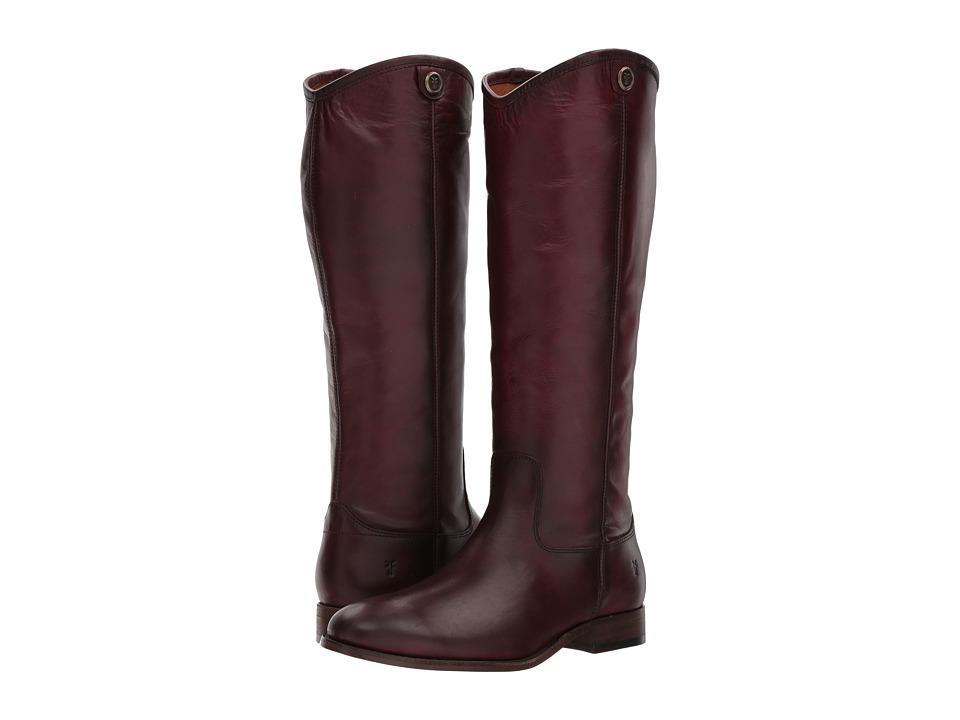 Frye Melissa Button 2 (Wine) Cowboy Boots