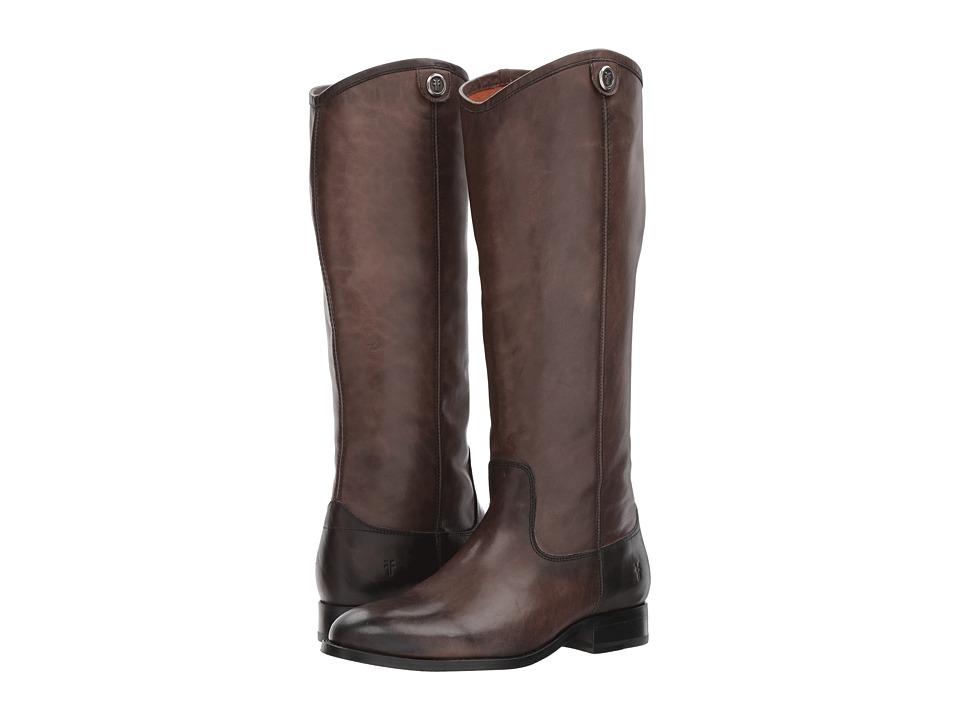 Frye Melissa Button 2 (Smoke) Cowboy Boots