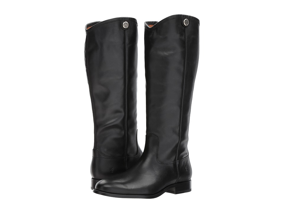 Frye Melissa Button 2 (Black Extended) Cowboy Boots