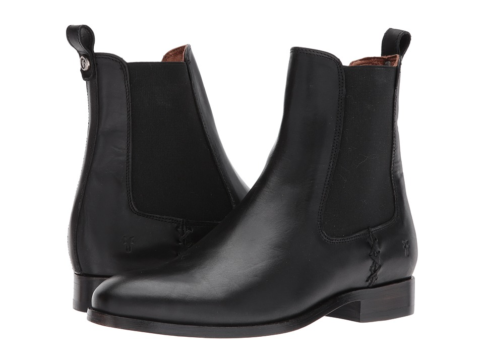 Frye Melissa Chelsea (Black) Women's Pull-on Boots