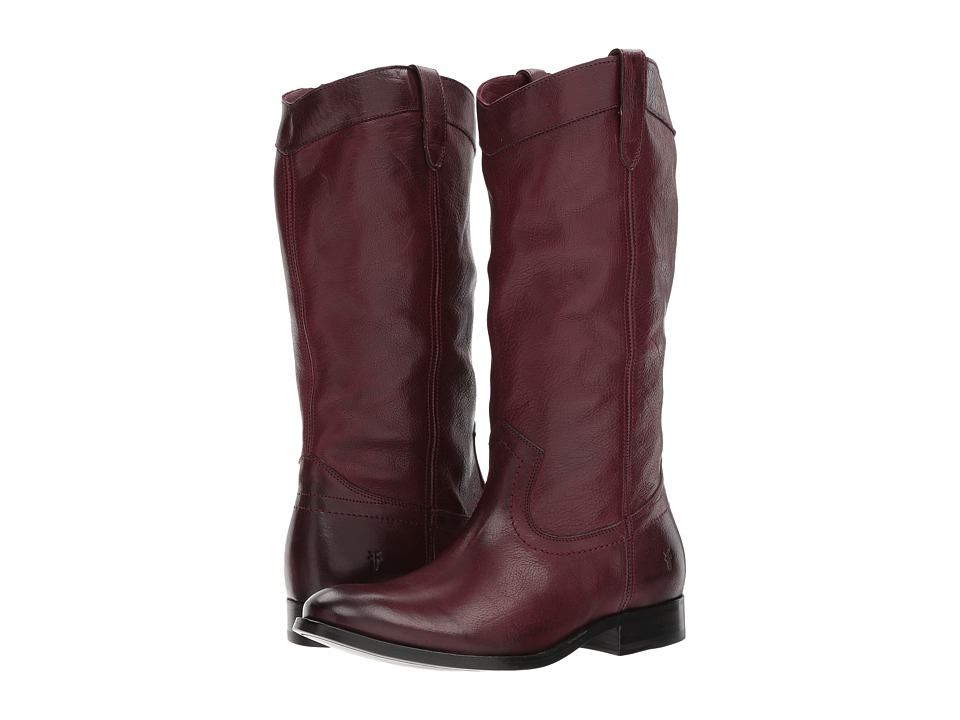 Frye Melissa Pull-On (Wine Tumbled Buffalo) Women's Pull-on Boots