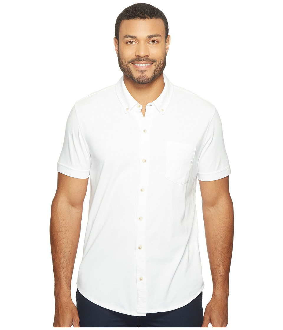 Mod-o-doc - Humboldt Short Sleeve Button Front Shirt (White) Mens Short Sleeve Button Up