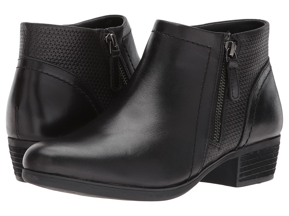 Rockport Cobb Hill Collection - Cobb Hill Oliana Panel Boot (Black Pull Up Leather) Womens Shoes