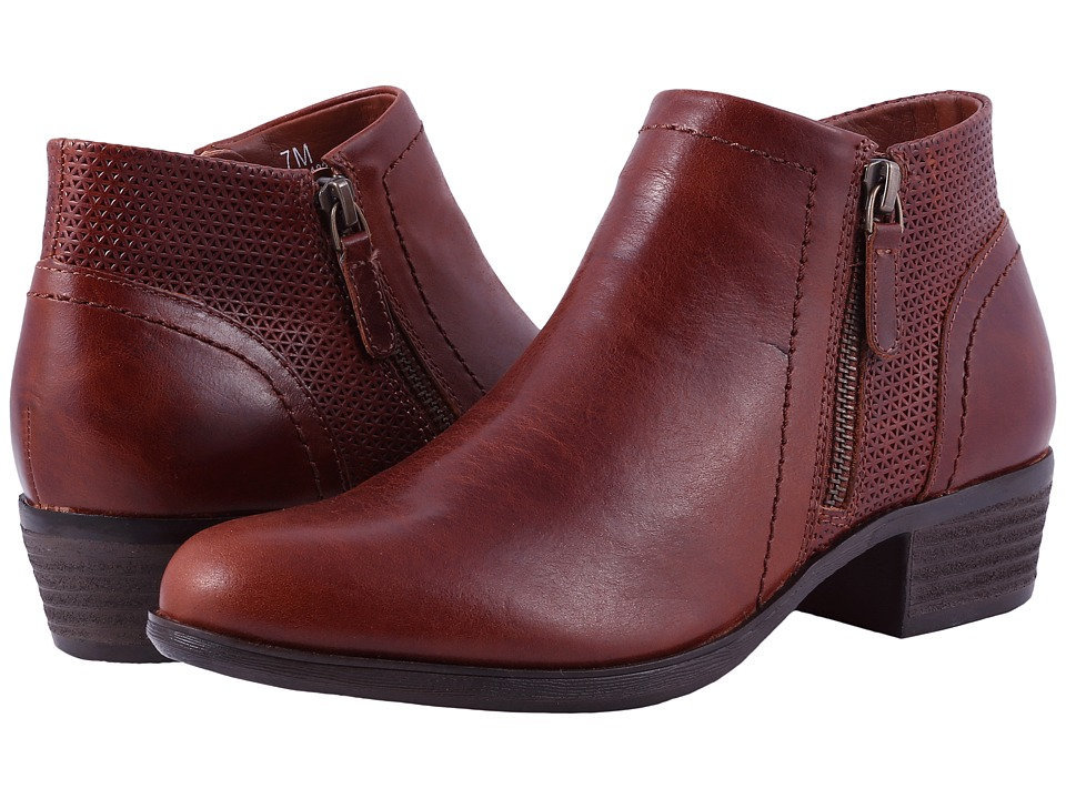 Rockport Cobb Hill Collection Cobb Hill Oliana Panel Boot (Saddle Pull Up Leather) Women