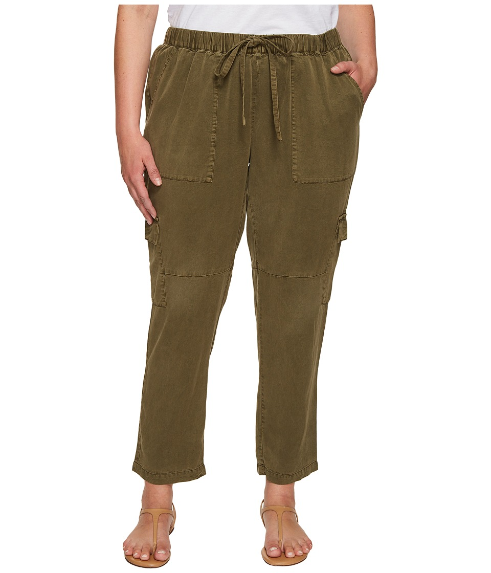 Lucky Brand Plus Size Solid Cargo Pants (Dark Olive) Women