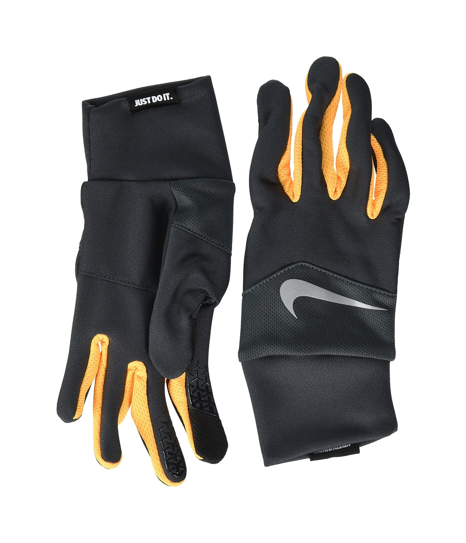 Nike Dri-Fit Tempo Run Gloves (Anthracite/Laser Orange/Silver) Cycling Gloves