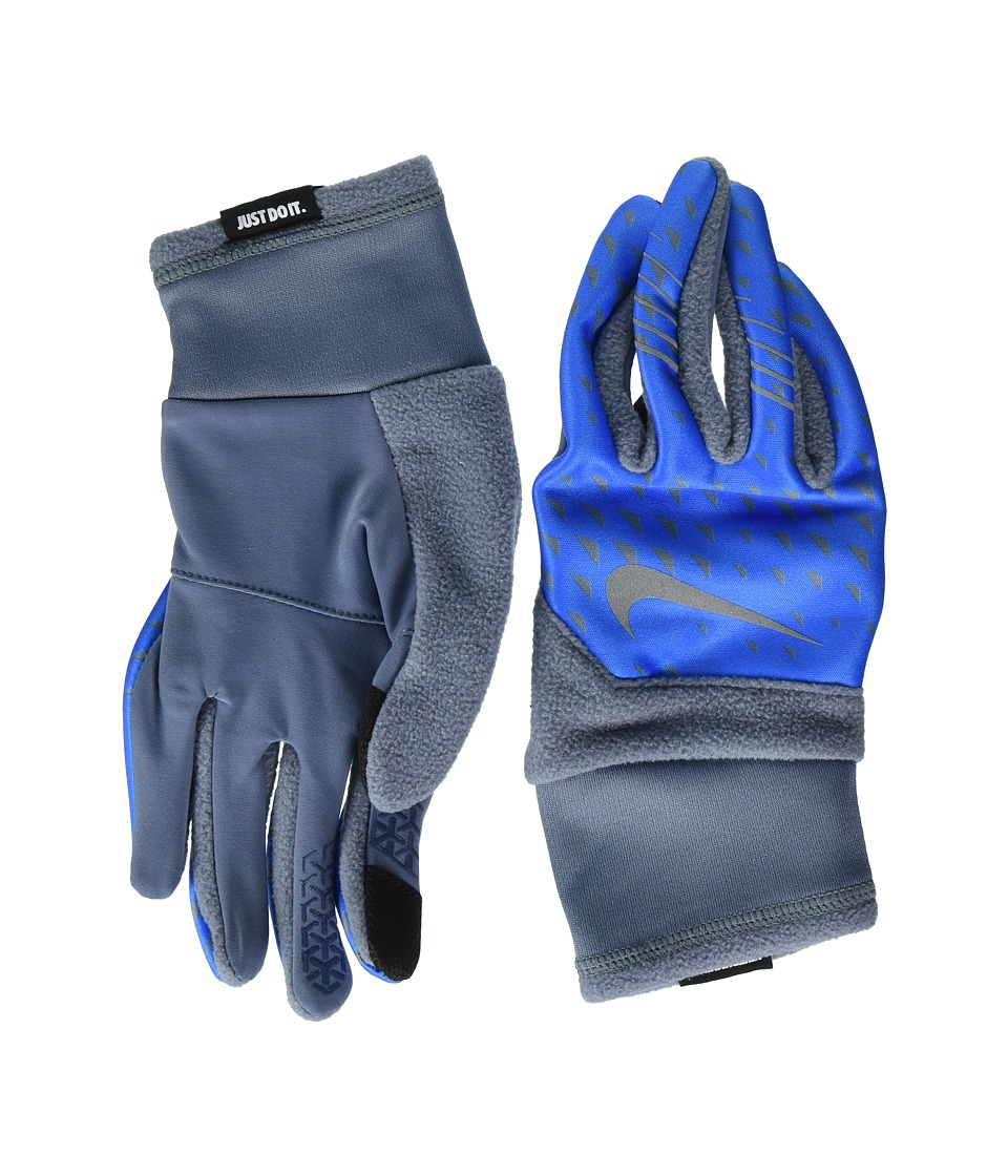 Nike Printed Therma-Fit Elite Run Gloves (Armory Blue/Photo Blue/Silver) Cycling Gloves