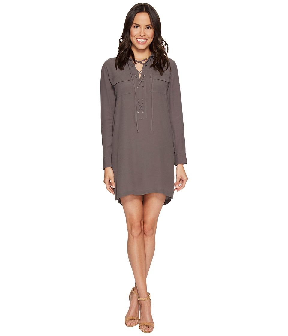 1.STATE - Long Sleeve Lace-Up Shift Dress