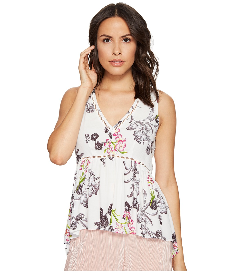 1.STATE - Sleeveless V-Neck High-Low Blouse
