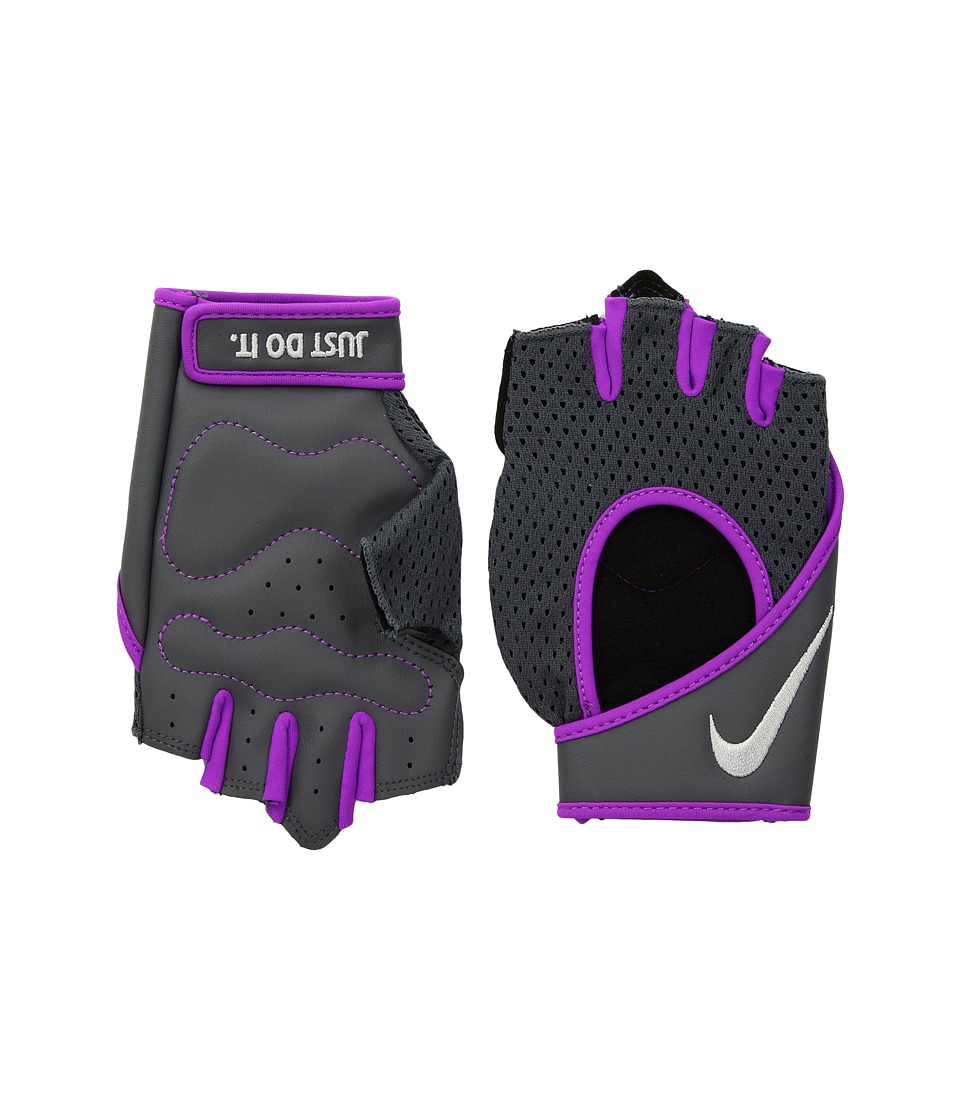 Nike Pro Perf Wrap Training Gloves (Dark Grey/Hyper Violet/Metallic Silver) Cycling Gloves