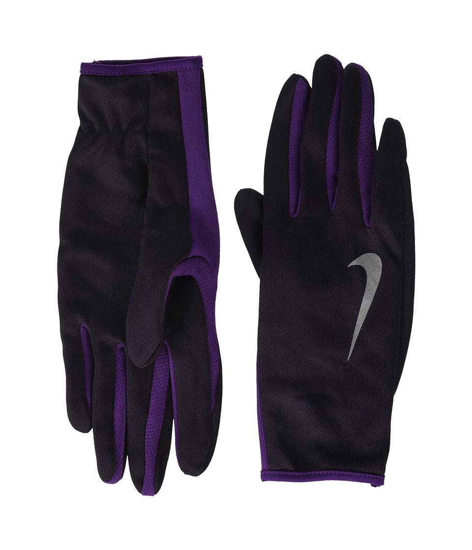 Nike - Run Dry Headband and Gloves Set (Port Wine/Night Purple/Silver) Athletic Sports Equipment