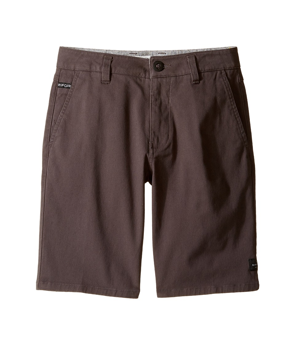 Rip Curl Kids - Epic Stretch Chino (Big Kids) (Charcoal) Boys Shorts