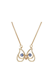 Betsey Johnson - CZ Stone Owl Pendant Necklace