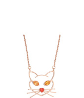 Betsey Johnson - CZ Stone Cat Pendant Necklace