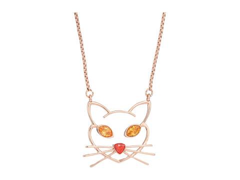 betsey johnson cz cat pendant necklace at 6pm