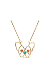Betsey Johnson - CZ Stone Dog Pendant Necklace