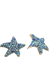 Betsey Johnson - Pave Starfish Stud Earrings