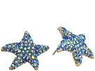 Betsey Johnson - Pave Starfish Stud Earrings