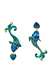 Betsey Johnson - Fish Mismatch Drop Earrings