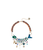 Betsey Johnson - Mixed Charm Fish Frontal Necklace