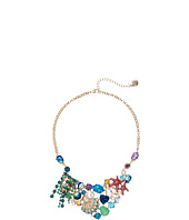 Betsey Johnson - Seashell & Starfish Mixed Charm Cluster Bib Necklace