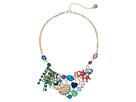 Betsey Johnson - Seashell & Starfish Mixed Charm Cluster Bib Necklace