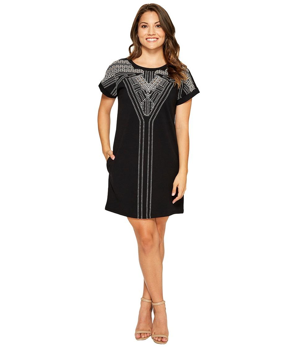 NIC+ZOE Petite Havana Nights Dress (Black Onyx) Women