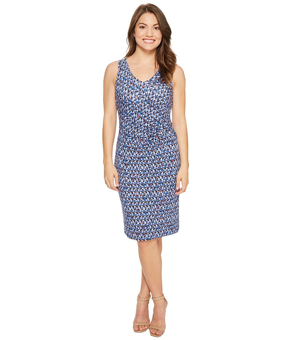NIC+ZOE Petite Triangle Tiles Dress (Multi) Women