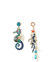 Betsey Johnson - Seahorse Mismatch Drop Earrings