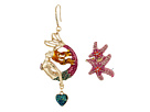 Betsey Johnson - Mermaid Drop & Starfish Ear Crawler Earrings Set