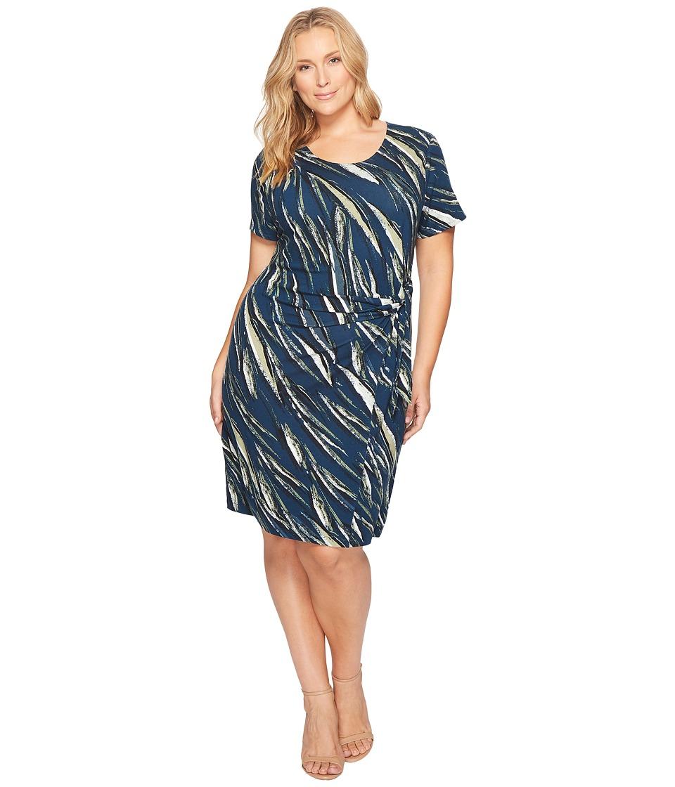 NIC+ZOE Plus Size Tiger Lily Dress (Multi) Women