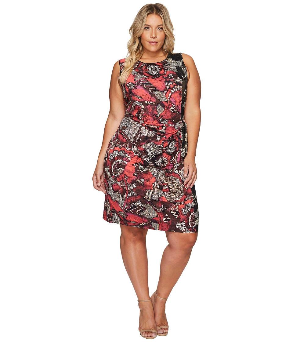 NIC+ZOE Plus Size Etched Floral Dress (Multi) Women