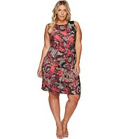 NIC+ZOE - Plus Size Etched Floral Dress