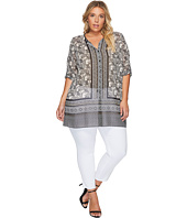 NIC+ZOE - Plus Size Mirrored Monkeys Tunic Top
