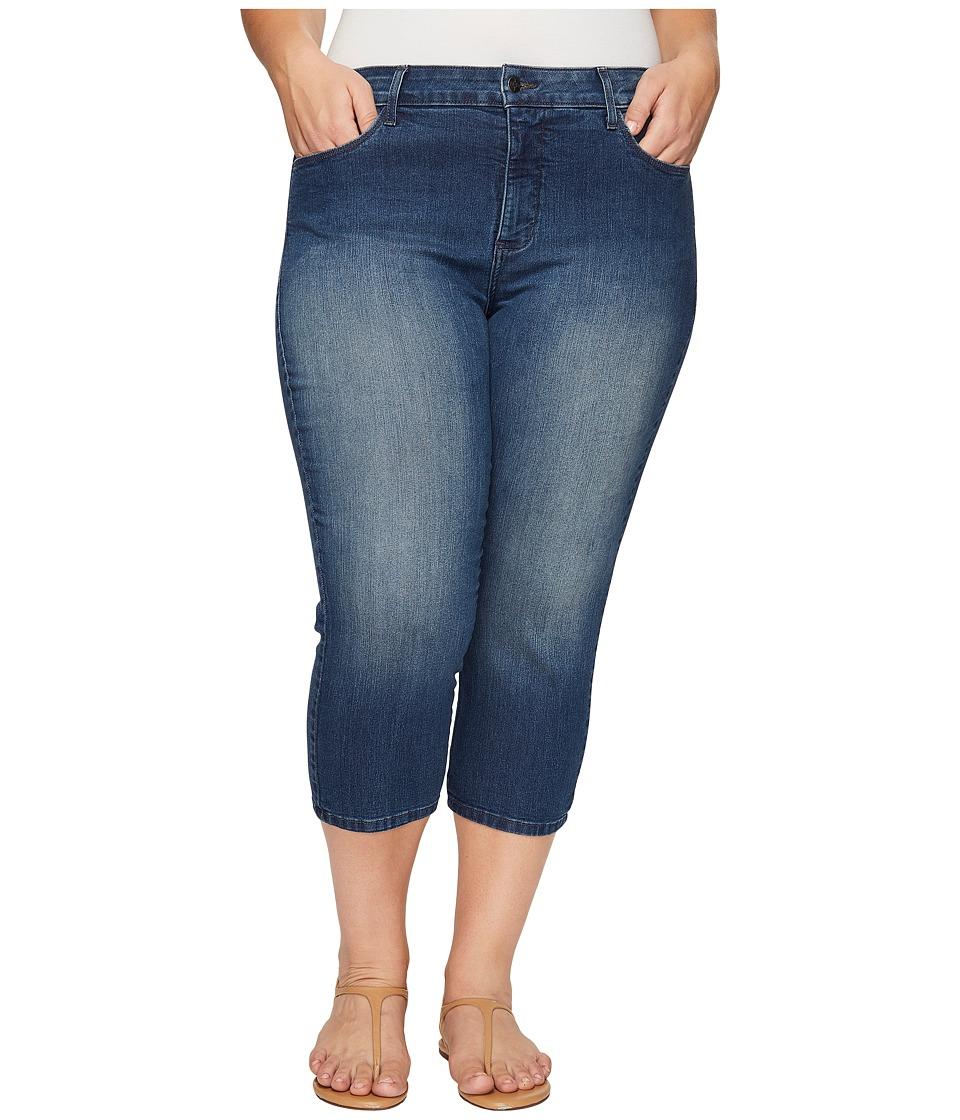 NYDJ Plus Size Plus Size Alina Capris in Nottingham (Nottingham) Women
