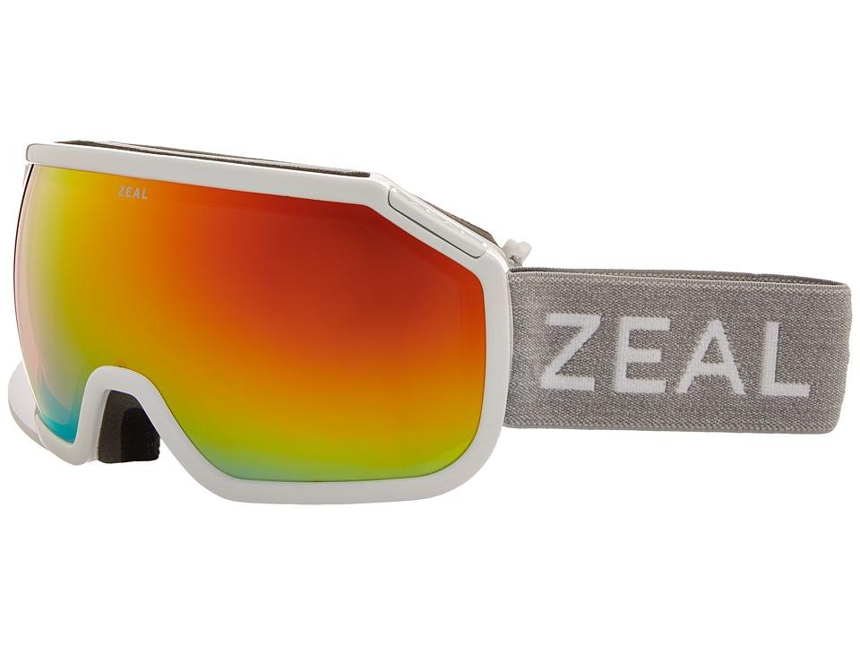Zeal Optics Fargo (White Out w/ Phoenix Mirror Lens) Goggles