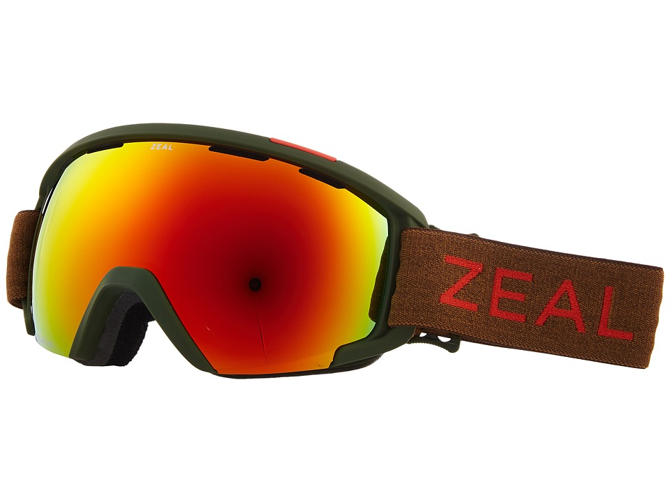 Zeal Optics Slate (Khaki Moss w/ Polarized Phoenix Mirror Lens) Goggles