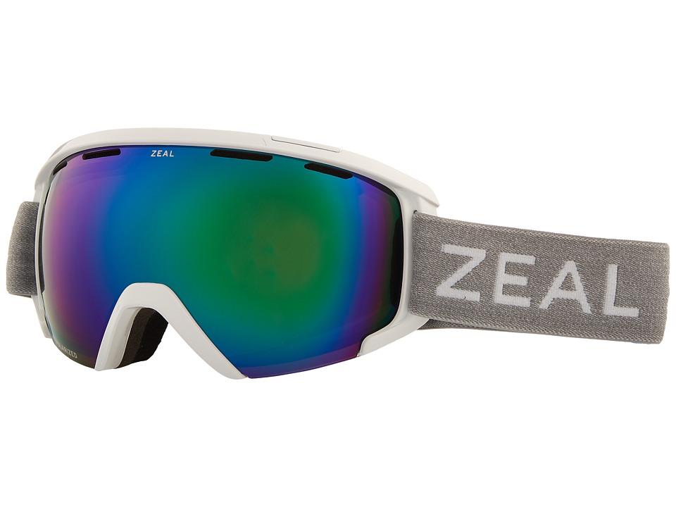 Zeal Optics Slate (White Out w/ Polarized Jade Mirror Lens) Goggles