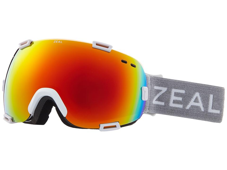 Zeal Optics Voyager (White Out w/ Polarized Phoenix Mirror Lens) Goggles