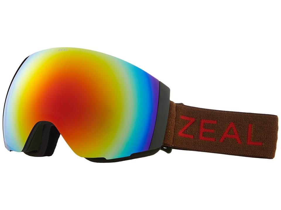 Zeal Optics Portal (Khaki Moss w/ Polarized Phoenix Mirror Lens + Sky Blue Mirror Le) Snow Goggles