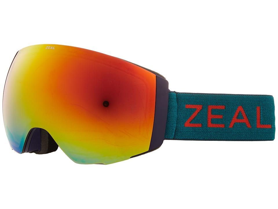 Zeal Optics Portal (Purple Jade w/ Phoenix Mirror Lens + Sky Blue Mirror Lens) Snow Goggles