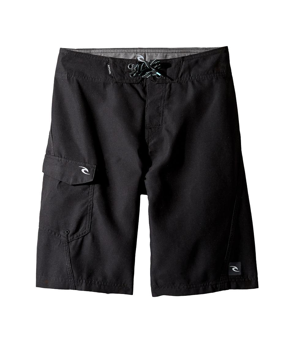 Rip Curl Kids Dawn Patrol Boardshorts (Big Kids) (Black) Boy