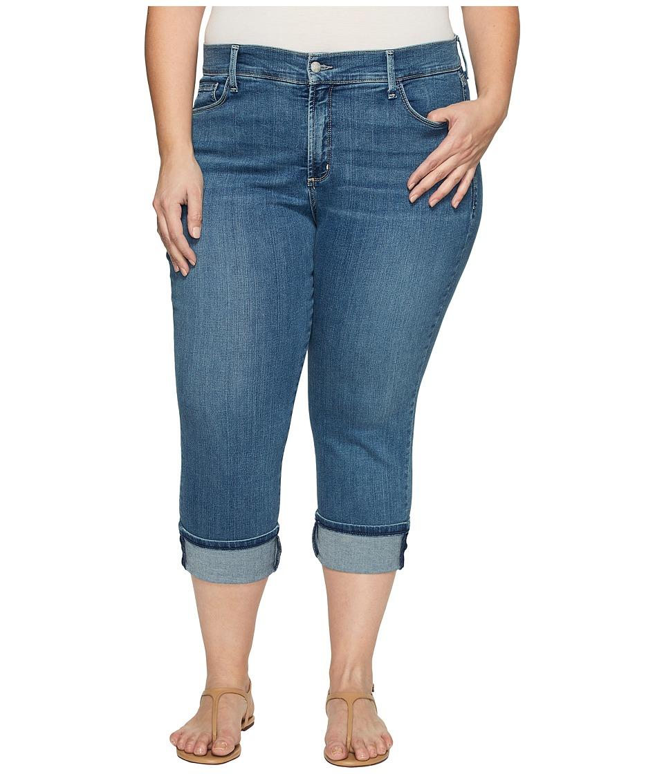 NYDJ Plus Size Plus Size Dayla Wide Cuff Capris in Heyburn Wash (Heyburn Wash) Women