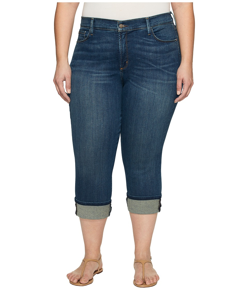NYDJ Plus Size Plus Size Dayla Wide Cuff Capris in Oak Hill (Oak Hill) Women
